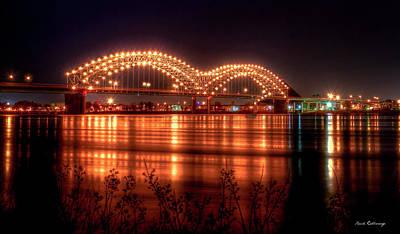 The M Bridge Memphis Tennessee Bridge Art Poster by Reid Callaway