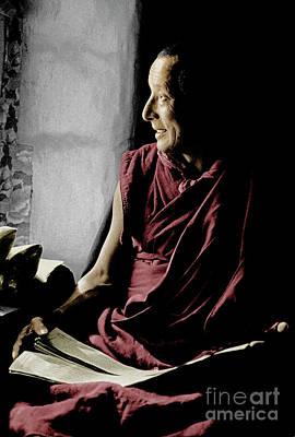 The Ma Shee Lama Of Sera Gompa - Lhasa Poster by Craig Lovell