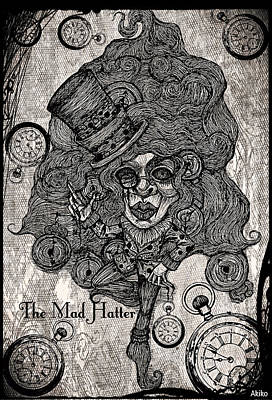 The Mad Hatter Poster by Akiko Okabe
