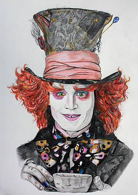 The Mad Hatter Poster by Wendy Rodgers