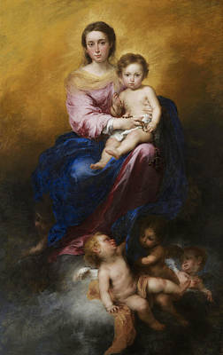 The Madonna Of The Rosary Poster by Bartolome Esteban Murillo