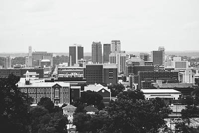 Poster featuring the photograph The Magic City In Monochrome by Shelby Young