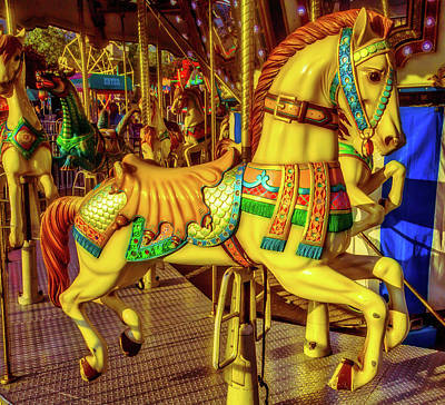 The Magic Of A Carrousel Horse Poster