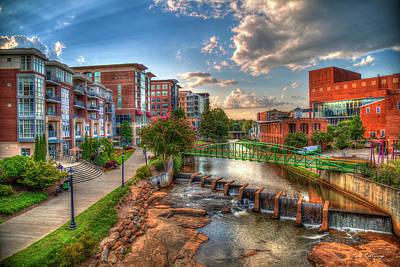 The Main Attraction Reedy River Greenville South Carolina Art Poster