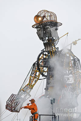 The Man Engine And His Man Poster by Terri Waters