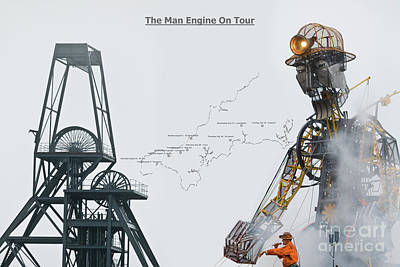 The Man Engine On Tour Poster by Terri Waters