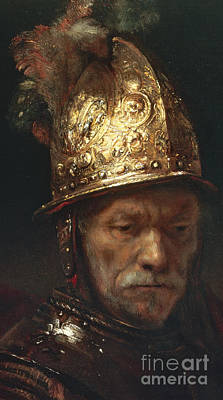 The Man With The Golden Helmet Poster by Rembrandt