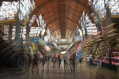 Poster featuring the photograph The Market Hall by Alex Lapidus