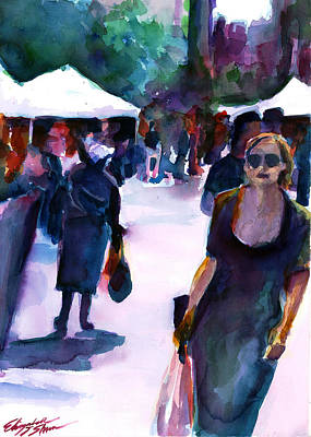 The Market No. 1 Poster by Elizabeth Shrum
