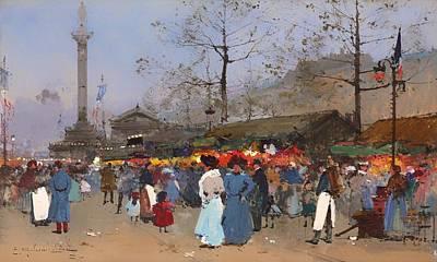 The Market Place - Paris Poster