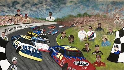 The Martinsville Speedway Poster by Charles Hill