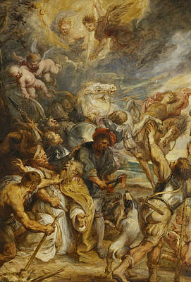 The Martyrdom Of Saint Livinus Poster by Peter Paul Rubens
