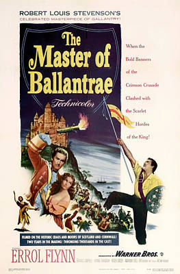 The Master Of The Ballantrae 1953 Poster by Mountain Dreams