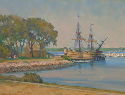 The Mayflower Poster by Dianne Panarelli Miller