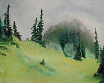 The Meadow On Mt. Ellinor Poster