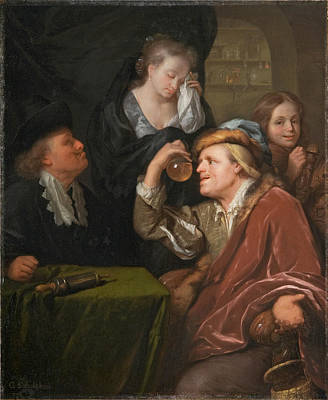 The Medical Examination Poster by Godfried Schalcken