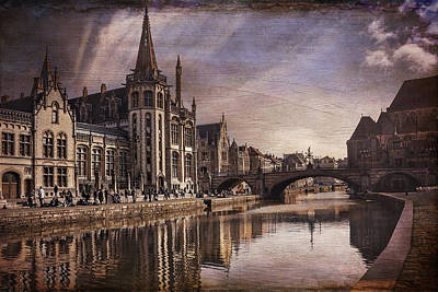 The Medieval Old Town Of Ghent  Poster