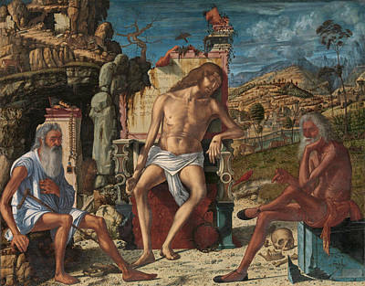 Poster featuring the painting The Meditation On The Passion by Vittore Carpaccio