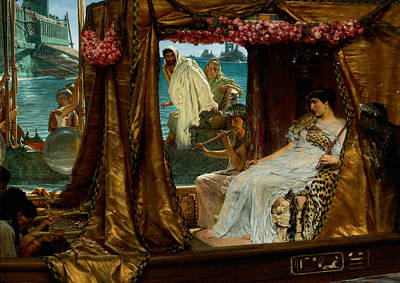The Meeting Of Antony And Cleopatra 41 Bc Poster by Sir Lawrence Alma-Tadema