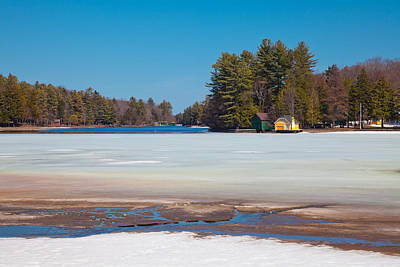 The Melting Of Old Forge Pond Poster by David Patterson