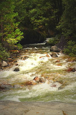 The Merced River In Yosemite Two  Poster