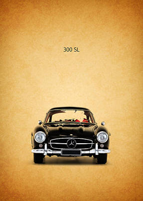 The Mercedes 300 Sl Poster by Mark Rogan