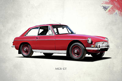 The Mgb Gt Poster by Mark Rogan