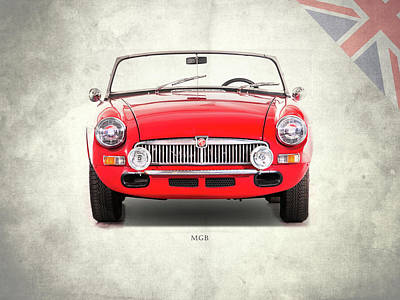 The Mgb Roadster Poster by Mark Rogan