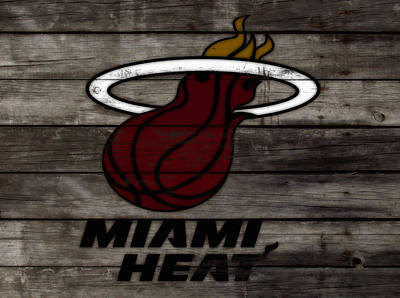 The Miami Heat 3h Poster by Brian Reaves