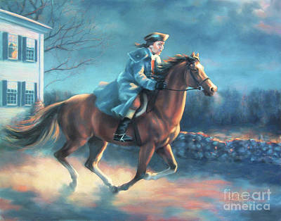 The Midnight Ride Of Paul Revere Poster by Dale Tremblay