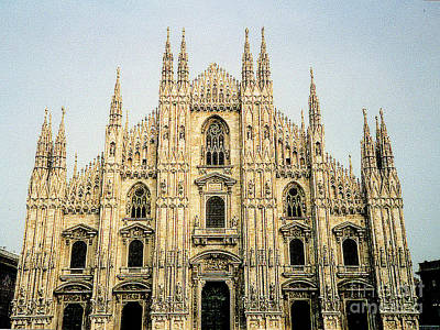 Poster featuring the photograph The Milan Cathedral - Italy by Merton Allen
