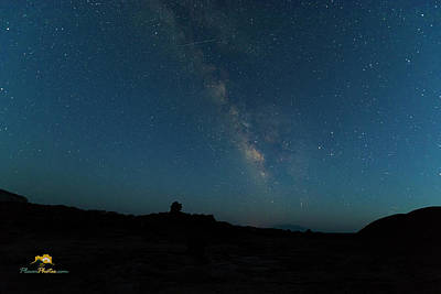 The Milky Way At Goblin Valley Poster