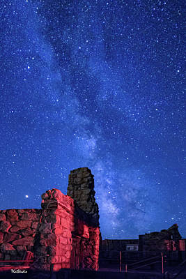The Milky Way Over The Crest House Poster