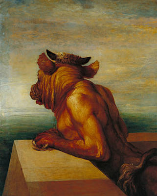The Minotaur Poster by George Frederic Watts