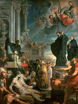 The Miracles Of St. Francis Xavier Poster by Peter Paul Rubens