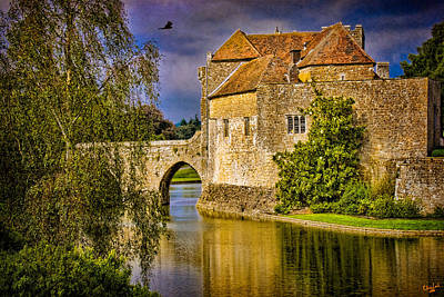 The Moat At Leeds Castle Poster by Chris Lord