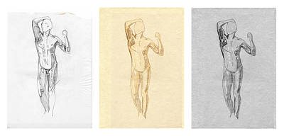 The Modern Age - Triptych - Homage Rodin  Poster