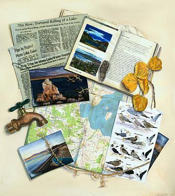 The Mono Lake Story Trompe L'oeil Poster