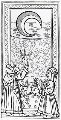 The Moon  Tarot Card Poster by Italian School