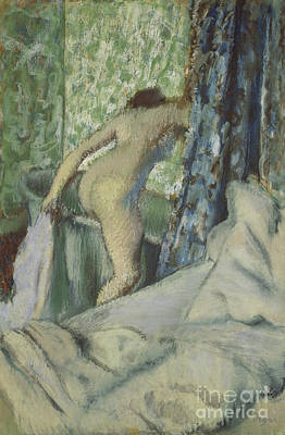 The Morning Bath Poster by Edgar Degas