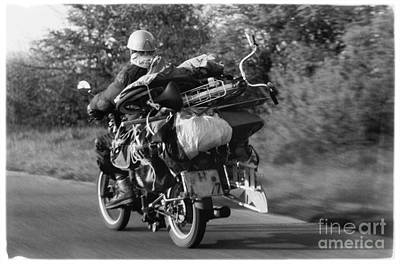 The Motorbike Carrier Poster by Heiko Koehrer-Wagner