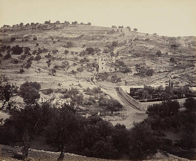 The Mount Of Olives And Garden Of Gethsemane Poster