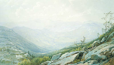The Mount Washington Range, From Mount Kearsarge Poster by William Trost Richards