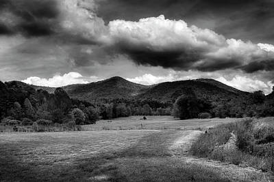 The Mountains Of Western North Carolina In Black And White Poster by Greg Mimbs