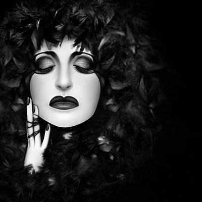 The Mourning - Self Portrait  Poster by Jaeda DeWalt