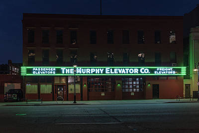 Poster featuring the photograph The Murphy Elevator Company by Randy Scherkenbach
