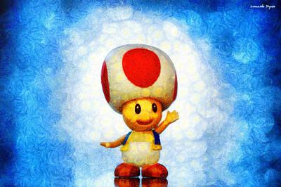 The Mushroom 56 - Pa Poster by Leonardo Digenio