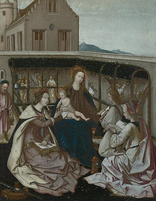 The Mystic Marriage Of Saint Catherine Poster by Portuguese
