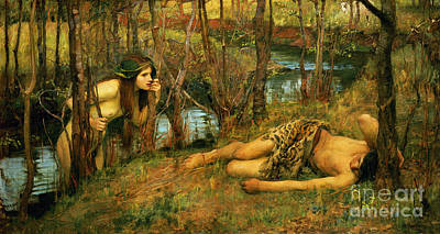 The Naiad Poster by John William Waterhouse