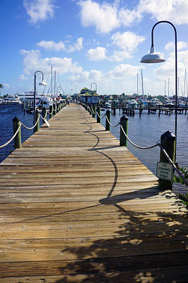 The Naples City Dock Poster